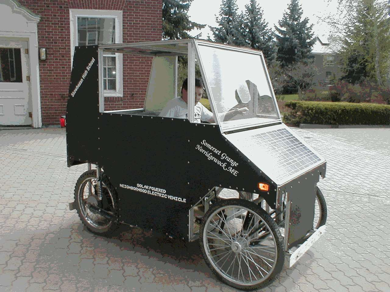 Prototype Solar NEV on homemade wind turbine designs, solar panel car designs, homemade robotic arm designs,